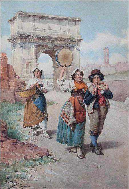 music makers-francesco ballesio (italian, 1860-1923)