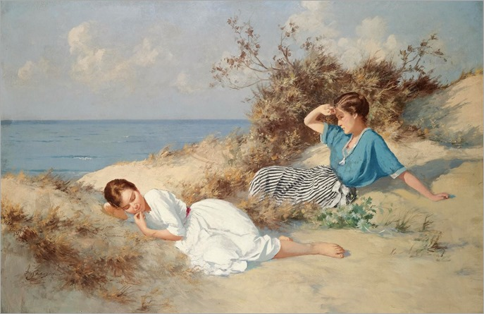 on the beaches-Hermann Seeger - Date unknown