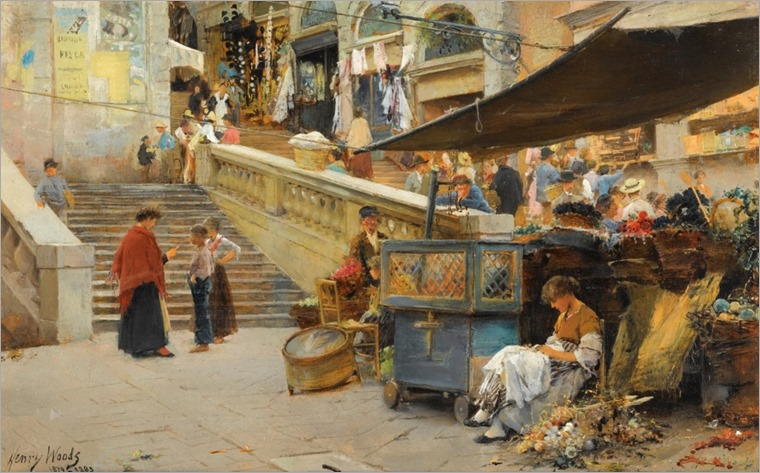 ON THE STEPS OF THE RIALTO, VENICE_Henry Woods_1024x634
