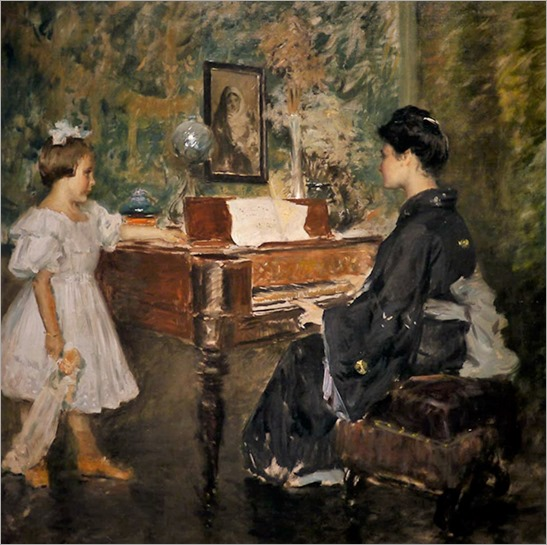 The Music Lesson - 1906 - William Merritt Chase (american painter)