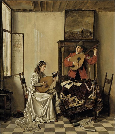 The Music Lesson - Franz Xaver Wolf