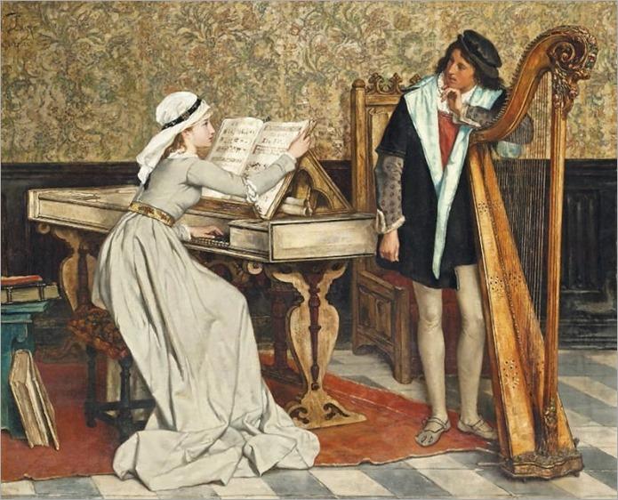 Victor Lagye (1825-1896) Music practice