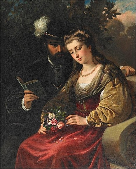 a lovers story-CARL ADOLF GUGEL (1820 – 1885, GERMAN)