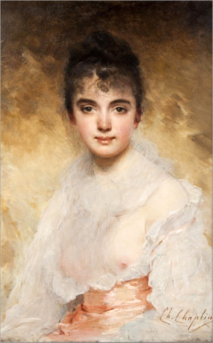 Charles Chaplin - a portrait of a young woman