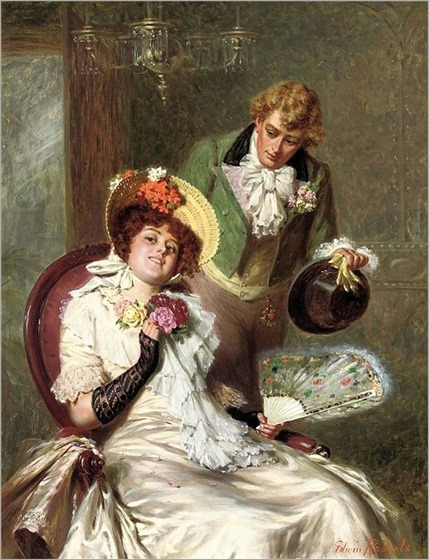Edwin Thomas Roberts (1840-1917) A New Suitor
