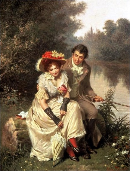 edwin thomas roberts-The Flirtatious Fisherman