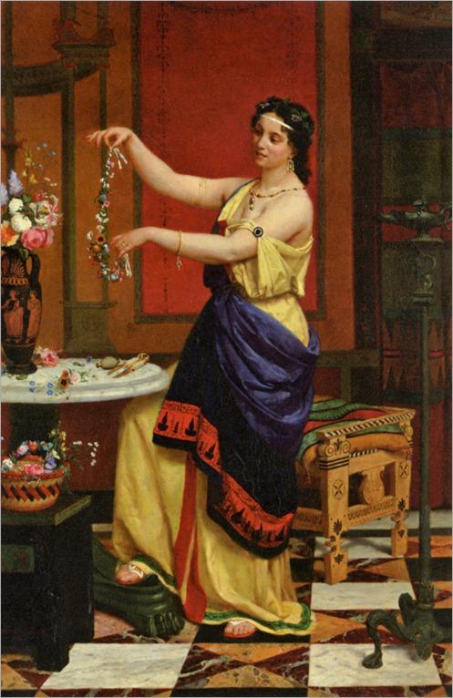 François_Edouard Zier - Le collier de Fleurs -1873