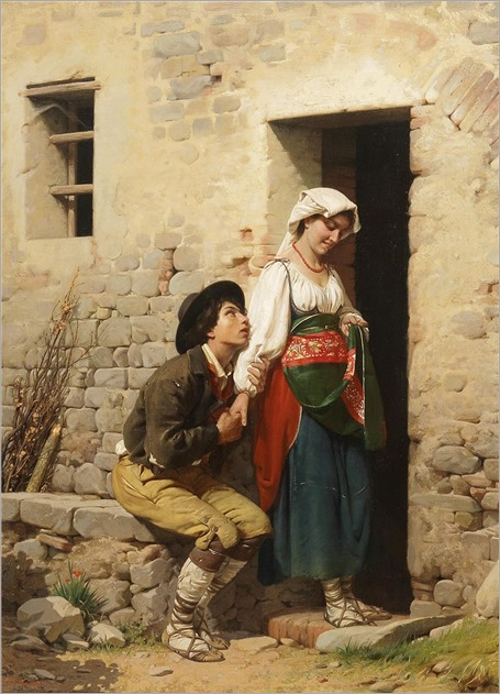 Giuseppe Ciaranfi (1838-1902) A declaration of love