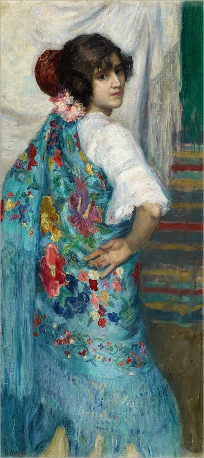 Gonzalo Bilbao Martínez - A Girl with Shawl - 1910
