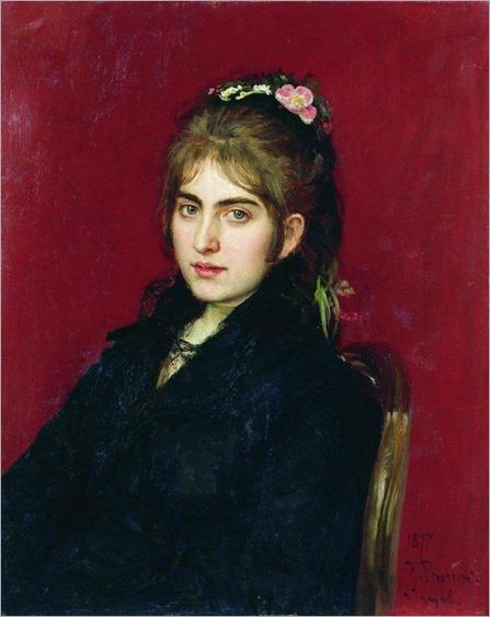 Ilya Repin - portrait-of-chuguev-resident-s-l-lyubitskaya-1877