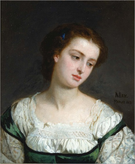 Portrait of a Young Woman (1862). Edward Harrison May (English, 1824-1887