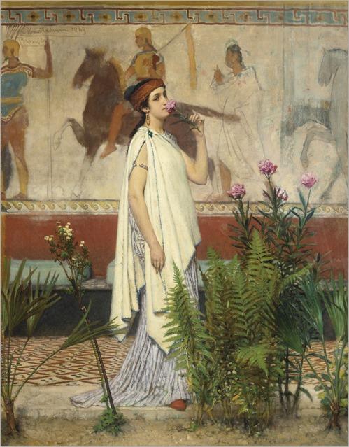 SIR LAWRENCE ALMA-TADEMA (british, 1836-1912) - a greek woman