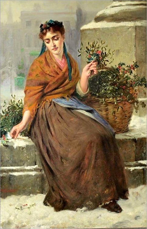 the flower-girl - edward charles barnes