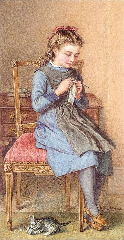 5.Agnes Rose Bouvier (British, 1842-1892)