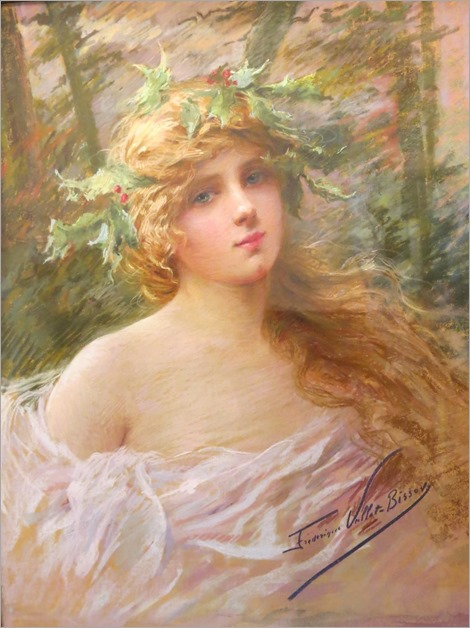 Frederique Vallet-Bisson (1862-1949) - pastel portrait