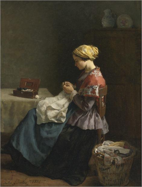 jules-breton-la-petite-couturiere