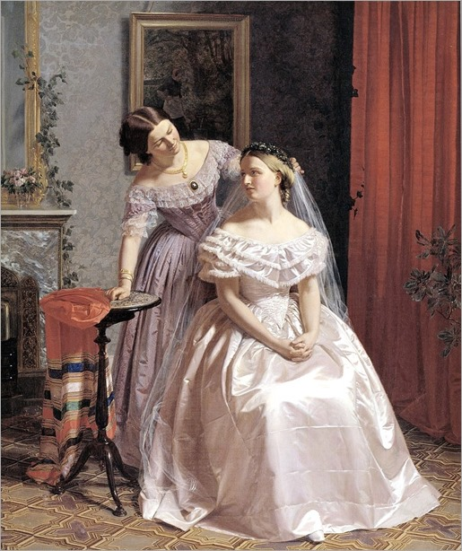 1859 Henrik Olrik (danish, 1830-1890) The Bride is Attended by her Friend