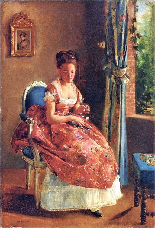 1870 - Eva Gonzales (french, 1849-1883) - The Girl-1870