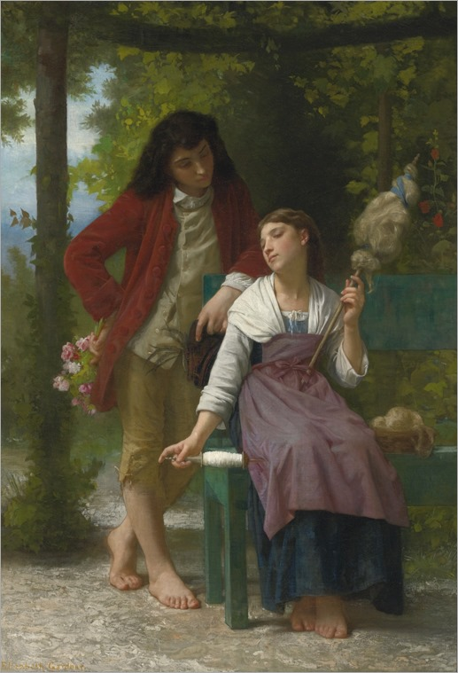 BEFORE THE ENGAGEMENT-Elizabeth jane gardner Bouguereau (american, 1837-1922)