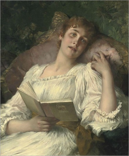 Day-dreaming. Conrad Kiesel (German, Romanticism, 1846-1921). Oil on canvas