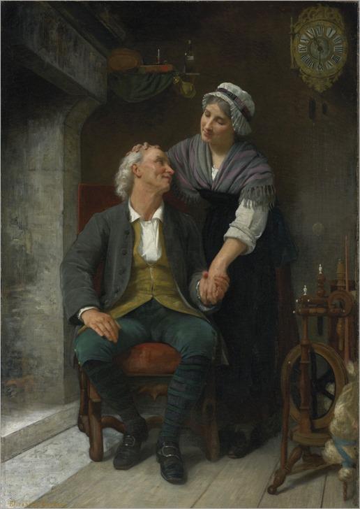 Elizabeth jane Gardner Bouguereau (american, 1837-1922)-after the engagement