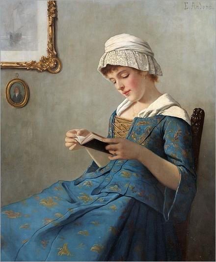 Ernest Anders-lesende junge frau (2)