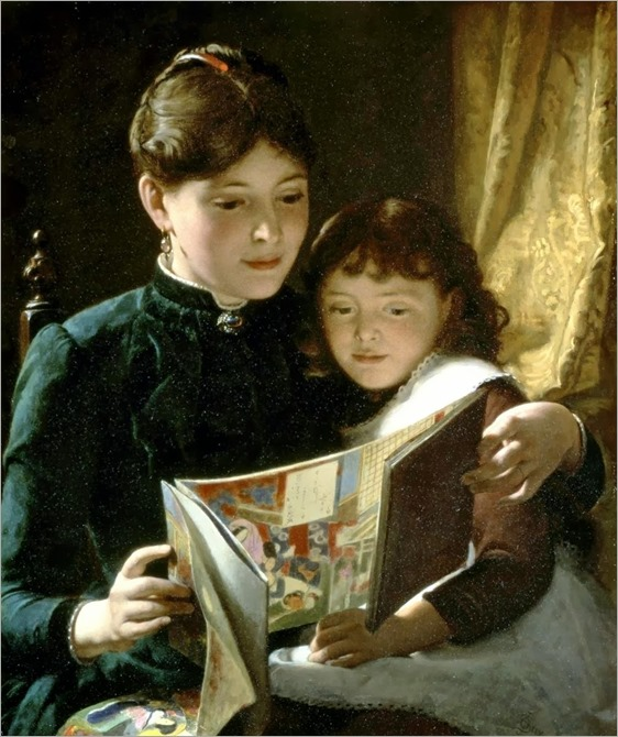Knowledge is Power. Seymour Joseph Guy (American, 1824-1910)