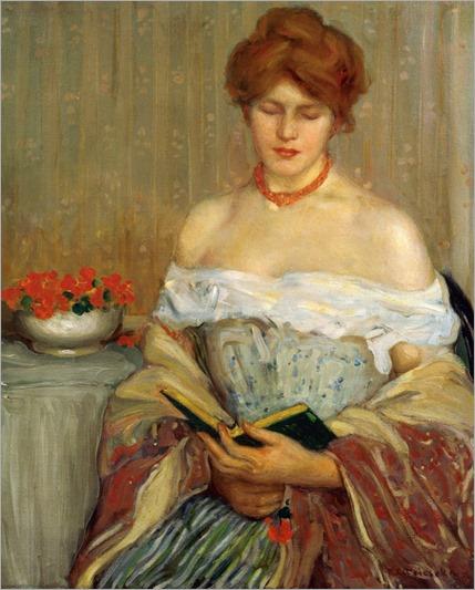 Nasturtiums - 1904 - Frederick Carl Frieseke (american painter) (2)