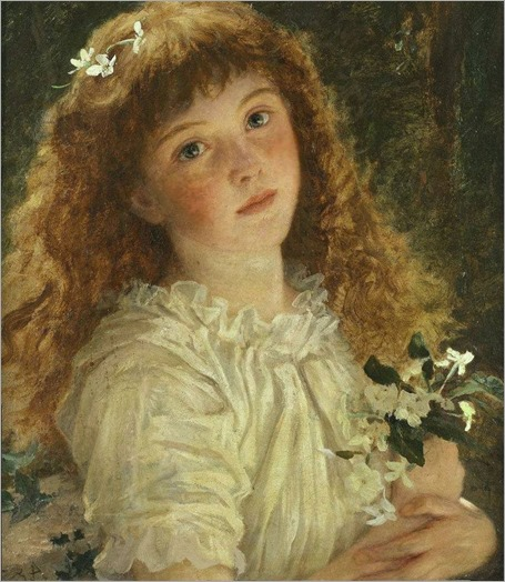 The young flower girl- Sophie Anderson