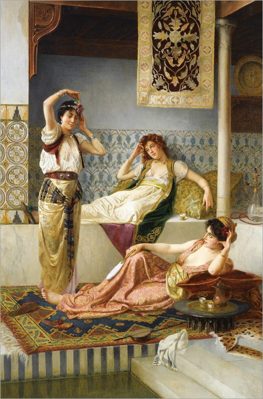 Vincent Stiepevich (russian, 1841-1910)-in the harem