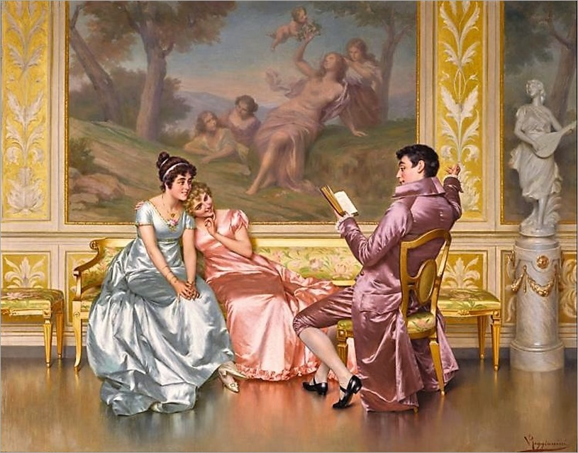 VITTORIO REGGIANINI (1858-1939, italian)-The Poetry Reading by sothebys