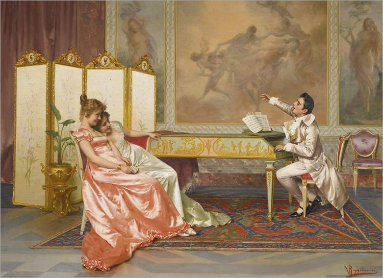 Vittorio Reggianini (italian, 1858-1938) - The recital