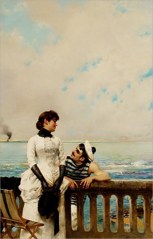 1883 Vittorio Matteo Corcos - When Love is Young