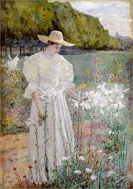 Among the Lilies -1898 - William Forsyth (american painter)
