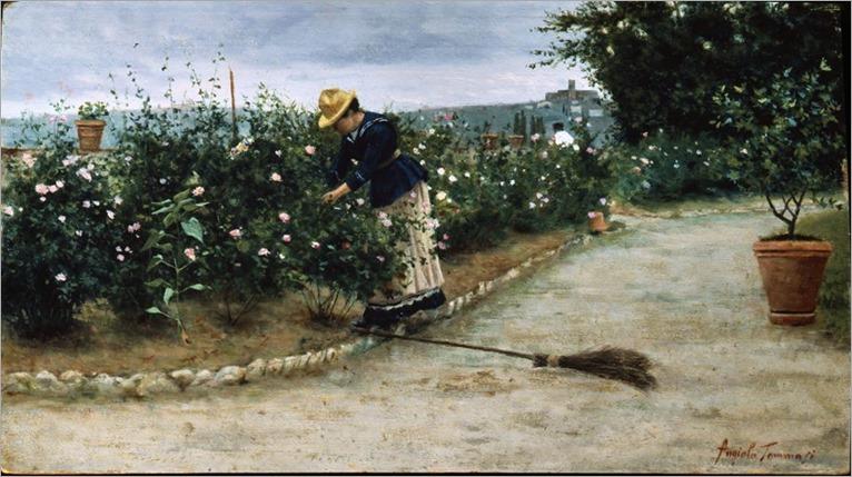 Angiolo Tommasi (italian painter)_ in giardino