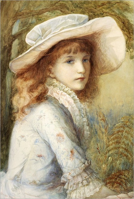 Blanche F. MacArthur (British, 1870 - 1896)Portrait of a Girl
