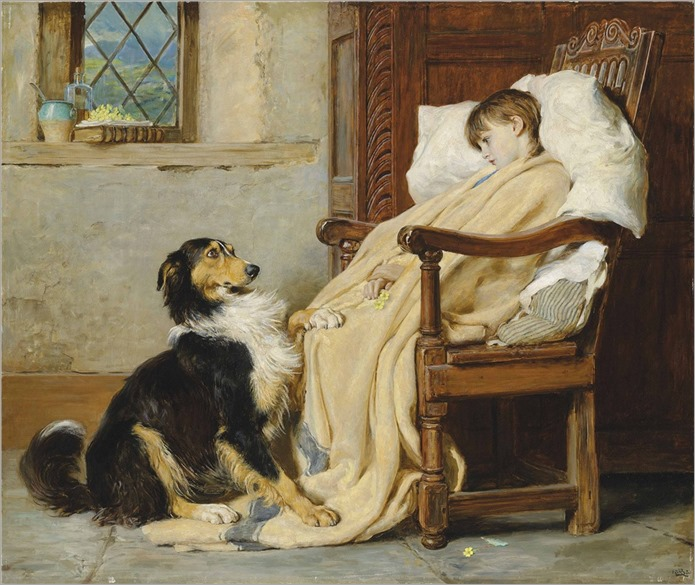 Briton Riviere (1840-1920) Old playfellows. 1883