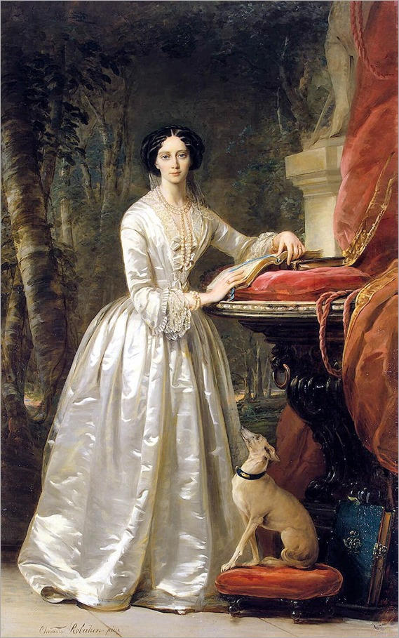 Christina Robertson (scottish, 1796-1854)- Portrait of Grand Duchess Maria Alexandrovna
