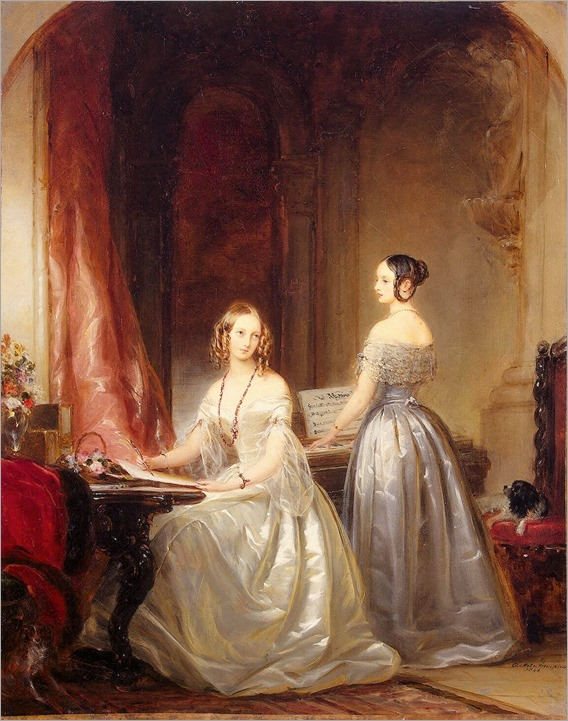 Christina Robertson(scottish, 1796-1854) - Portrait of Grand Princesses Olga Nikolayevna and Alexandra Nikolayevna