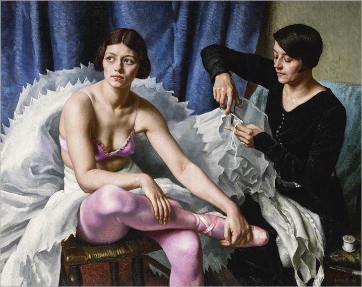 Dame Laura Knight (1877-1970) The Ballet Girl and the Dressmaker