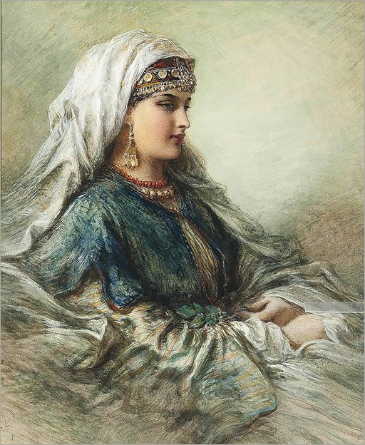 Egron Sillif Lundgren (Swedish, 1815-1875)-arabian beauty