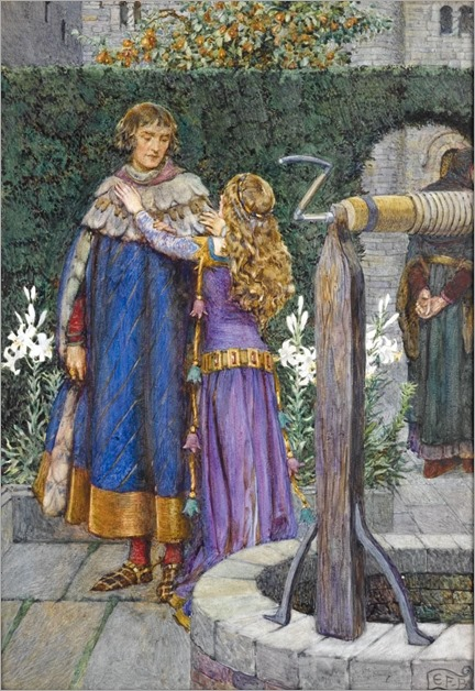 Eleanor Fortescue-Brickdale (English artist) 1872 - 1945- Abelard and Heloise, 1919, book illustration