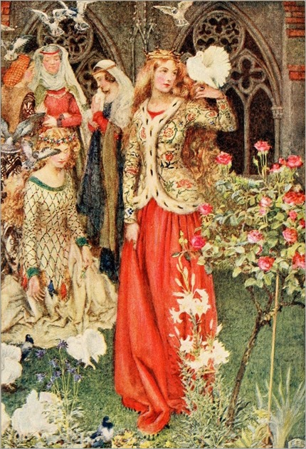 Eleanor Fortescue-Brickdale ~ Guinevere ~ Idylls of the King by Alfred Lord Tennyson