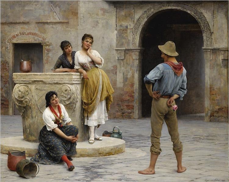 Eugen von Blaas (1843-1931) Flirtation. 1894