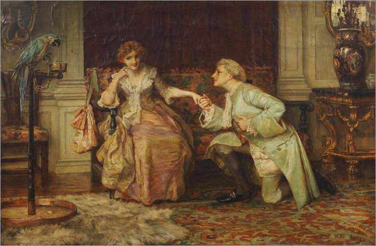 Francis Sydney Muschamp (1851-1929) - The proposal