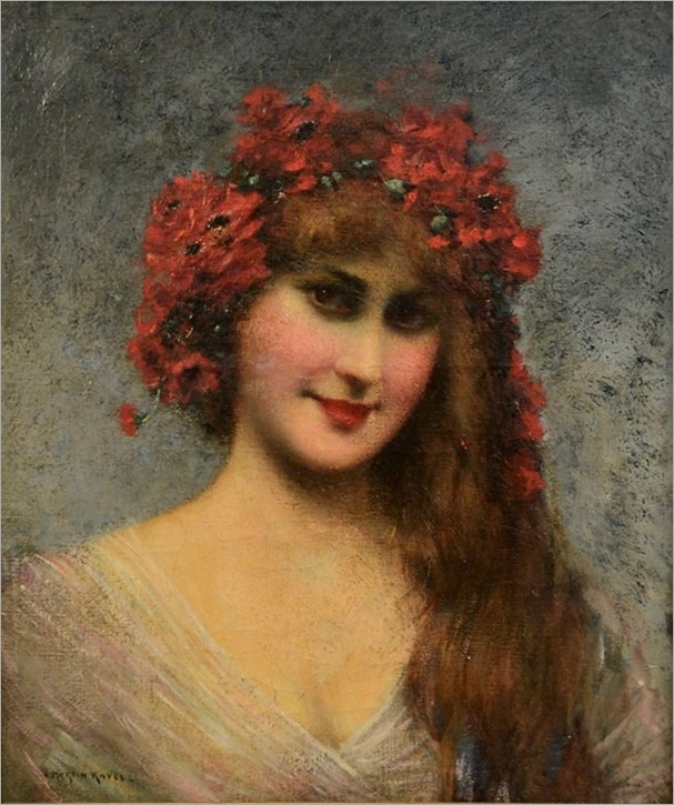 franois-martin-kavel-french-1861-1931-portrait-of-a-young-lady-with-floral-headdress