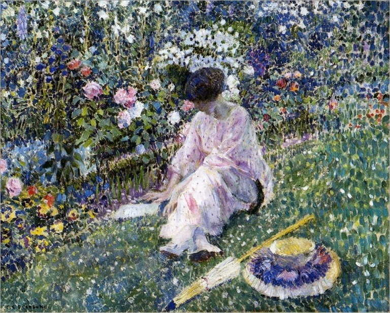 Frederick_C_Frieseke 1911_garden_in_june