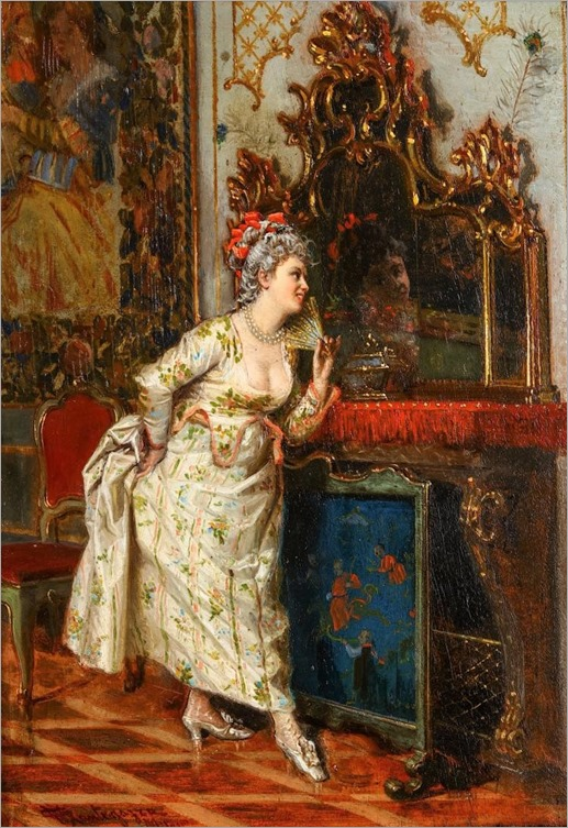 GIACOMO MANTEGAZA (1853-1920 ITALIAN)-the new fan