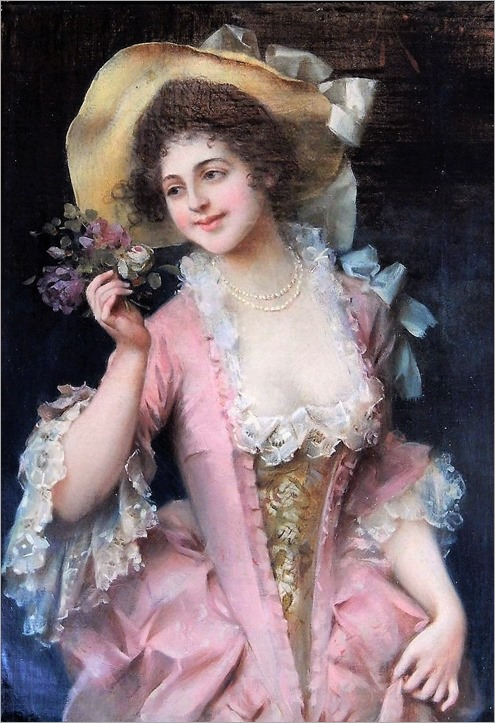 lady in pink-adriano cecchi