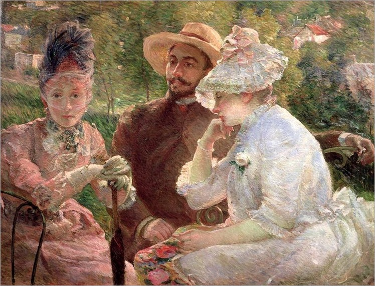 Marie Bracquemond- on the terrace at sevres
